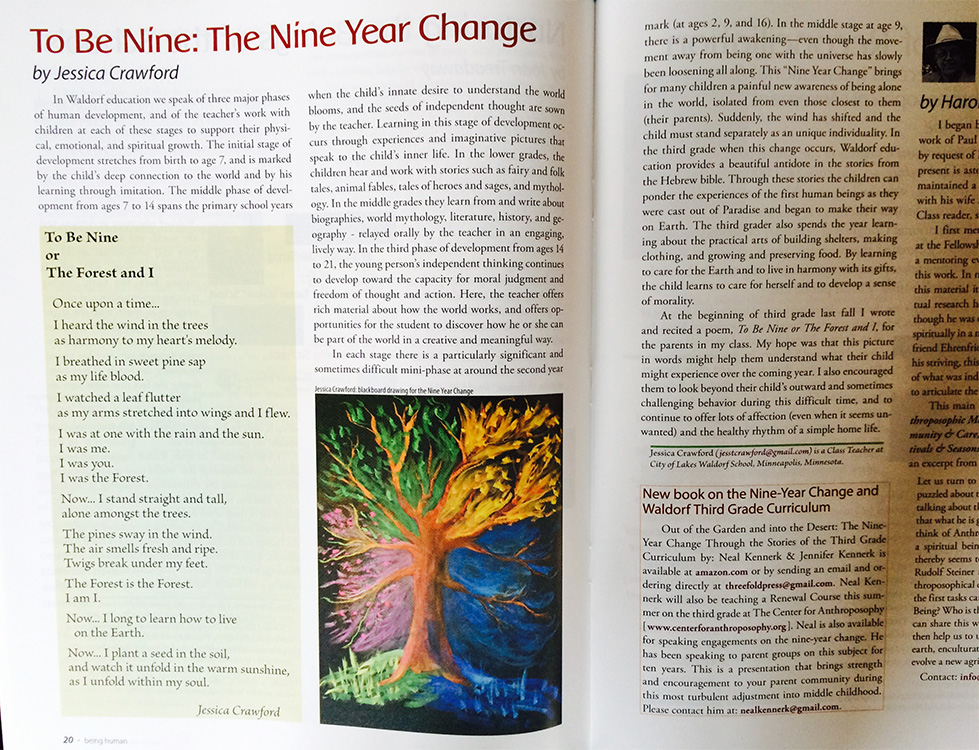 To Be Nine: The Nine Year Change by Jessica Crawford